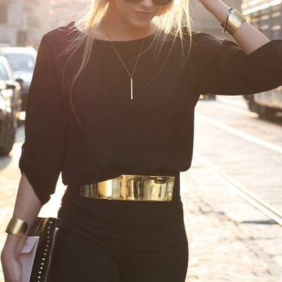 Gold metal elastic belt · electric shop · online store powered by storenvy