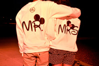 Mr and mrs hoodies on the hunt