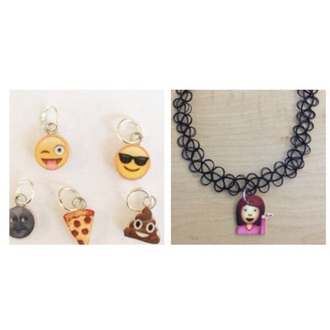 style funny trendy choker necklace keychain smiley