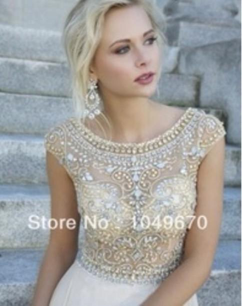 dress beige prom dresses chiffon