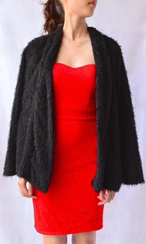 BLACK DIAMOND FAUX FUR COAT | Dresses | Women Clothes | KOOGAL