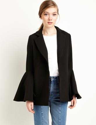 jacket bell sleeves black jacket formal