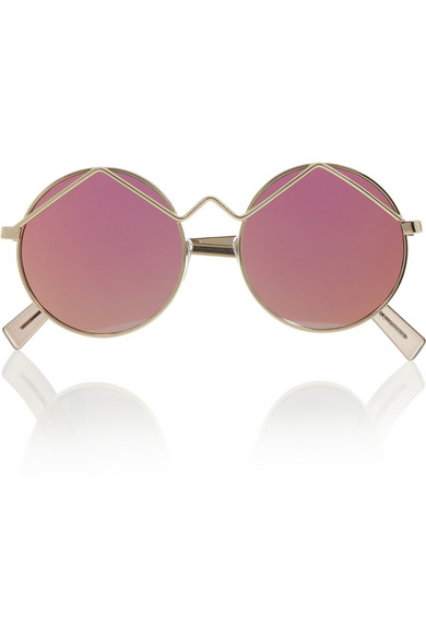 Frame metal mirrored sunglasses