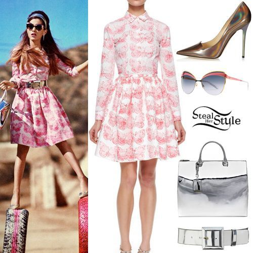 2014 New Red V Pink suit,Butterfly Print Cotton Long Sleeve Blouse and Poplin skirt,Vogue Ariana Grande Free Express shipping-inBlazer & Suits from Apparel & Accessories on Aliexpress.com