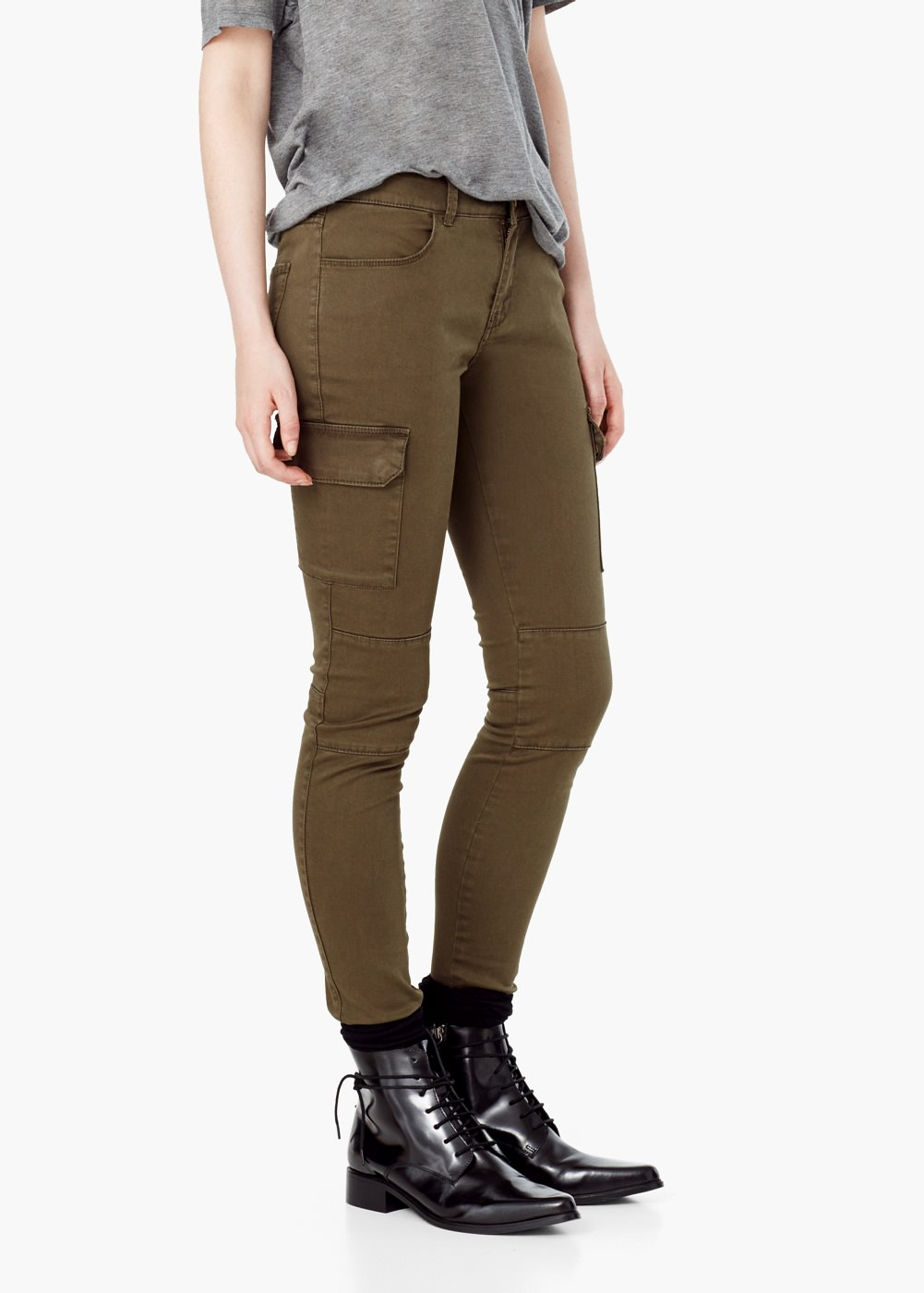Awesome Women39s Cotton Cargo Pants Leisure Trousers Outdoor More Pocket Pants