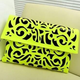 bag neon green neon green messenger bag printed bags