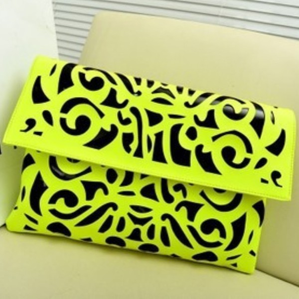bag neon green neon green messenger bag printed bag