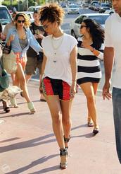 rihanna,alexander wang,shorts,shoes