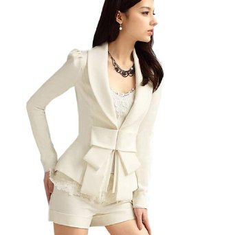 Amazon.com: Fancy Dress Store Women's Slim Fit Bowknot Long Sleeve Blazer: Clothing