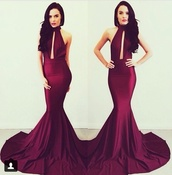 dress,burgundy dress,prom dress,red dress,red,red rain boots,bodycon dress,sexy dress,evening dress,prom gown,mermaid prom dress,bodycon prom dress,bag,burgundy,maxi dress,prom,maroon/burgundy