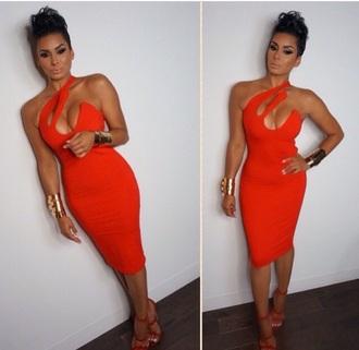 dress red dress style cut-out dress