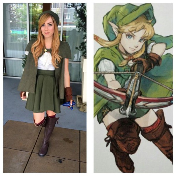 coat cosplay legend of zelda skirt clothes shirt boots costume