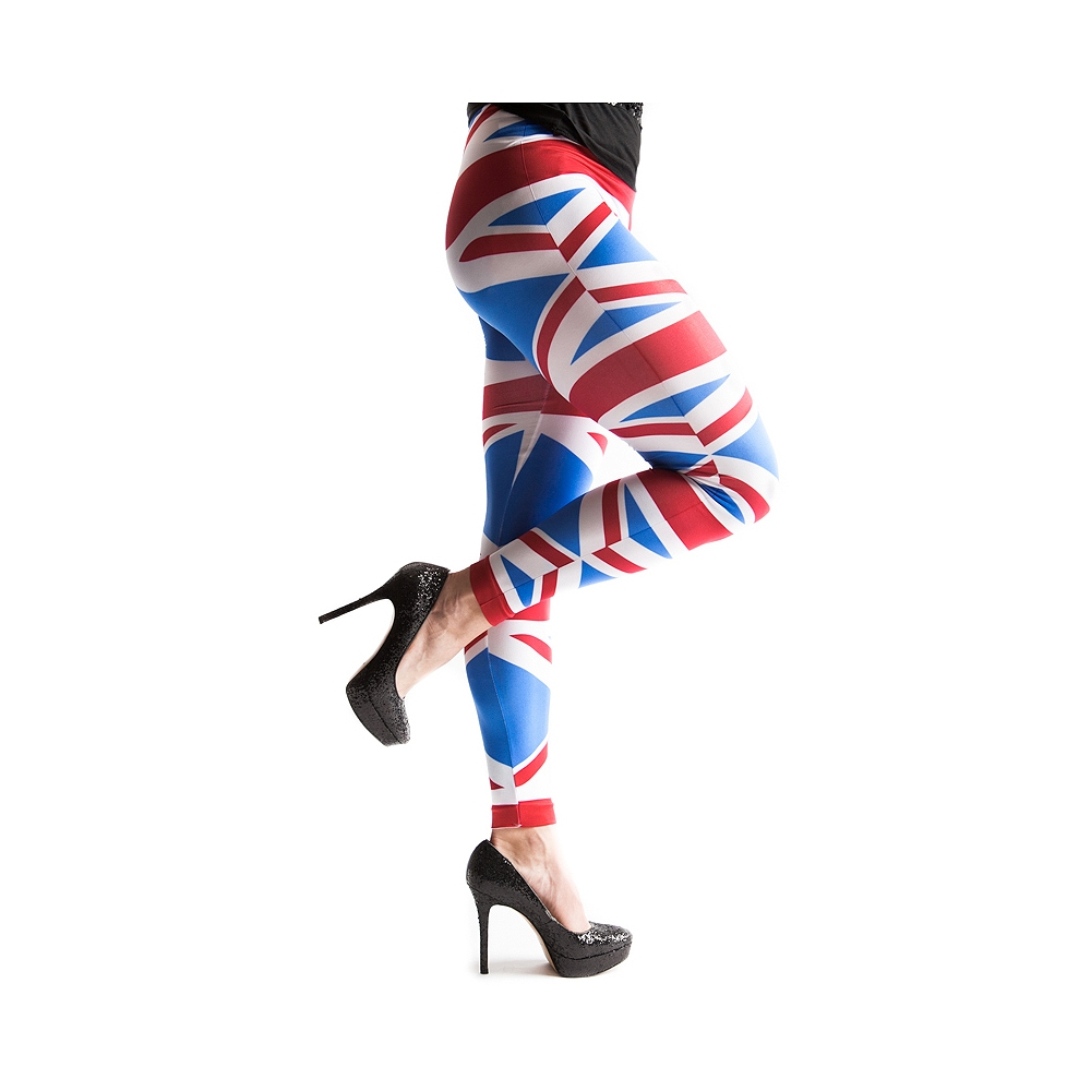 Union Jack Leggings in Multi | Shi by Journeys