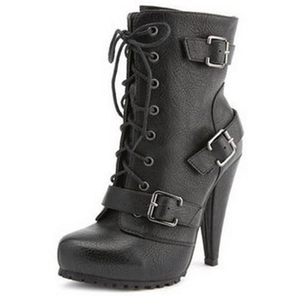 shoes combat heel combatboots combatheels heels high