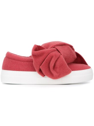 bow oversized sneakers purple pink shoes