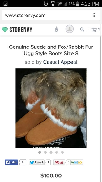 bag suede boots real fur