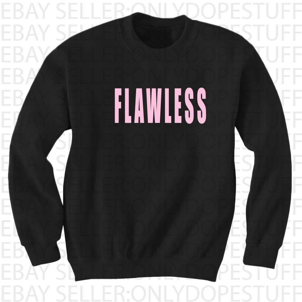 Flawless Beyonce Crewneck Sweatshirt Sweater Yonce Womens Shirt Top I Woke Up | eBay