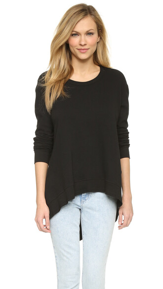 sweatshirt basic black sweater