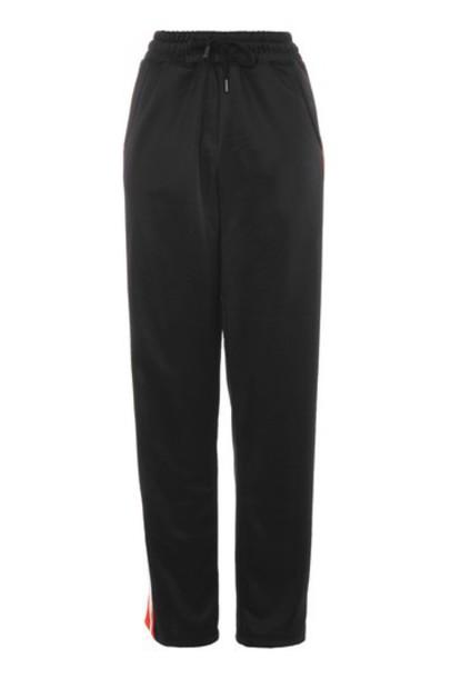 Topshop pants track pants black