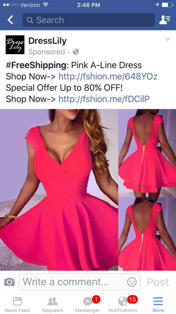 dress pink dress flowy dress mini dress