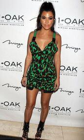 dress,camouflage,kourtney kardashian,kardashians,sandals,mini dress
