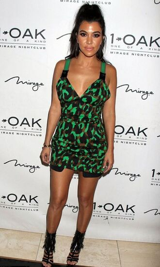 dress camouflage kourtney kardashian kardashians sandals mini dress