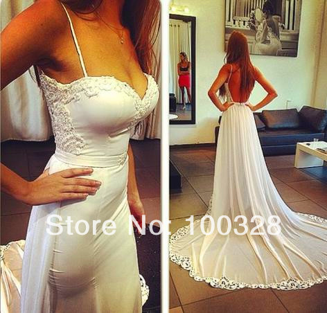 Aliexpress.com : buy custom made a line floor length court train sleeveless sweetheart with appliques open back long prom dresses 2014 new design from reliable sweetheart top wedding dress suppliers on rose wedding dress co., ltd