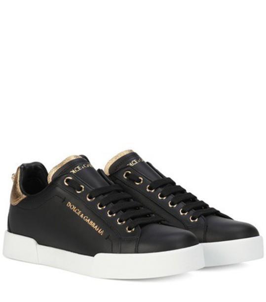 Dolce & Gabbana sneakers leather black shoes