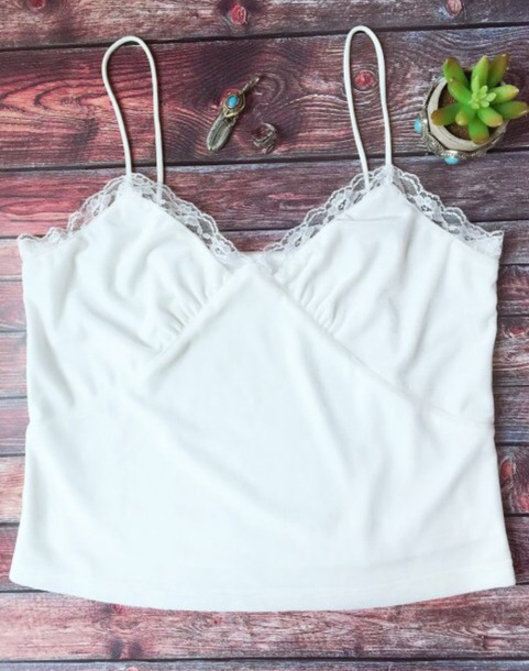 blouse girly white lace lace top crop tops crop cropped