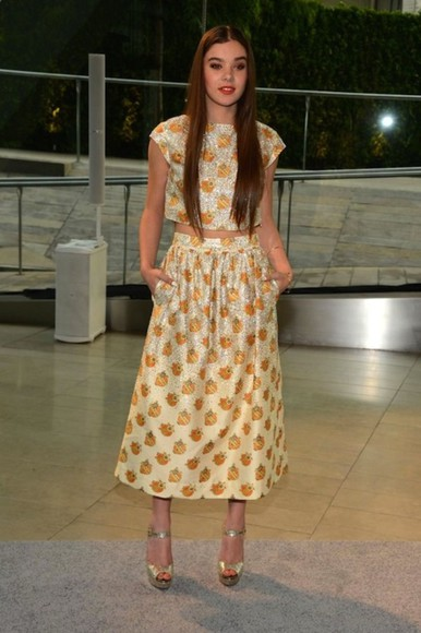 dress red carpet beautiful haute couture hippie hippie chic sixtys 60's mod hailee steinfeld