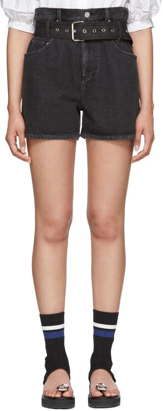 shorts denim black