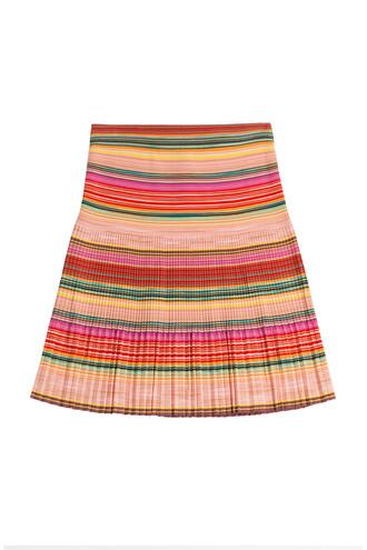skirt striped skirt wool multicolor