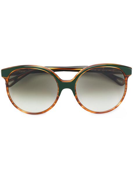 Chloe Eyewear metal women sunglasses brown