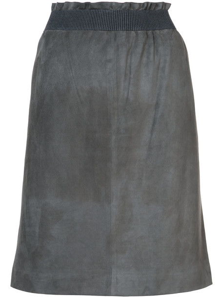 Fabiana Filippi skirt women suede grey