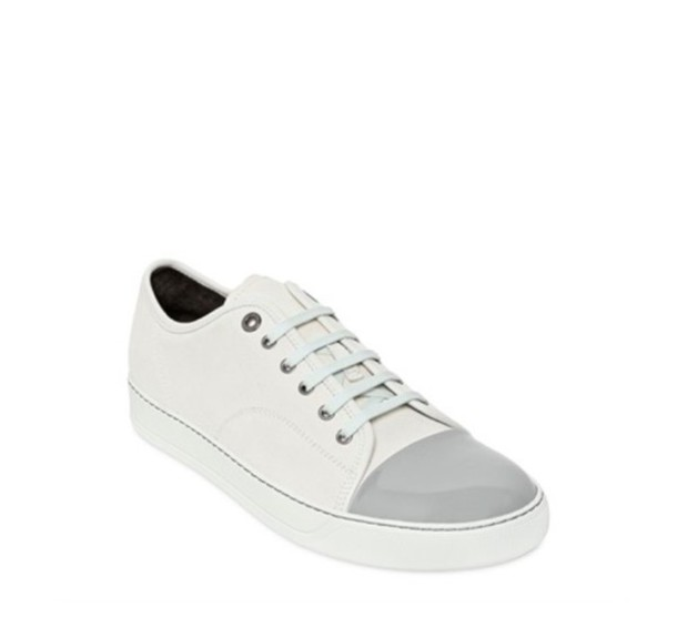 shoes lanvin white sneakers patent leather shoes