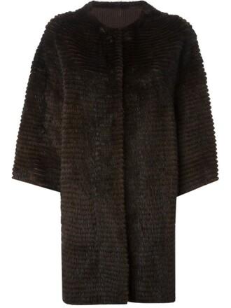 coat loose fur women fit brown