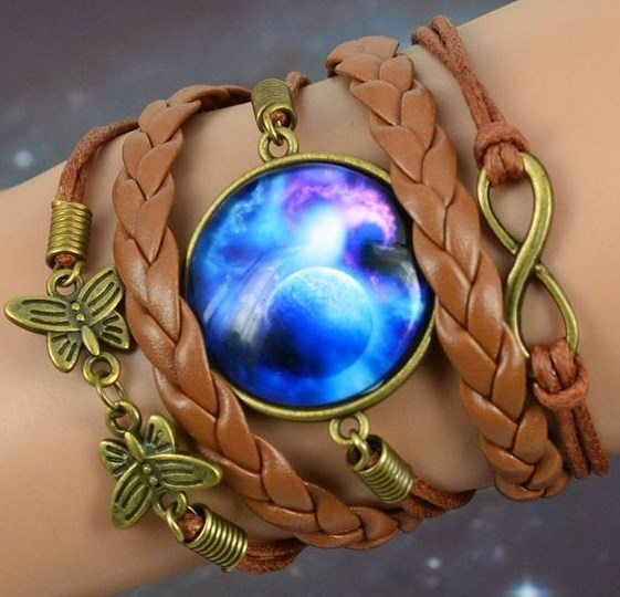 Galaxy cabochon infinity charms bracelets. (choose from 4 different bracelets)