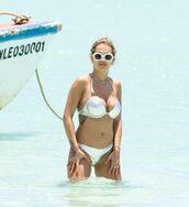 swimwear,silver,rita ora,beach,summer,sunglasses