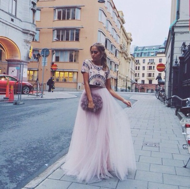 pink tulle dress women