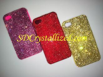 swarovski crystals phone case phone swarovski phone case cool colours metallic phone cases for bff