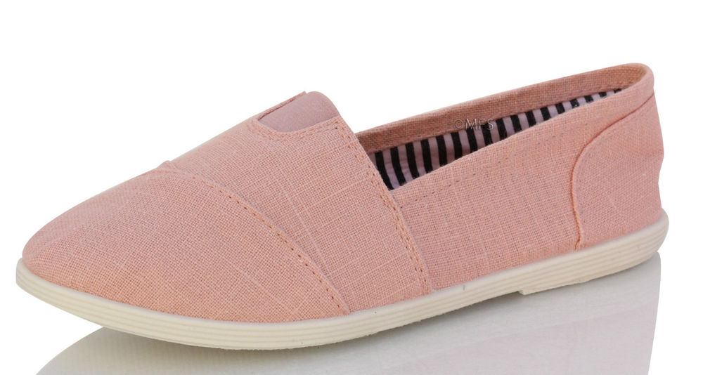 Soda object flat women shoes Light pink Mauve color Linen cute work shoes comfy