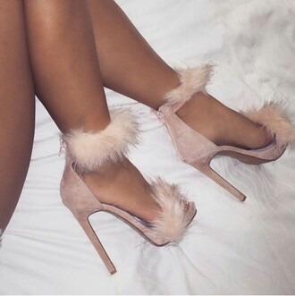 shoes heels taupe taupe heels taupe pumps fur fur heels open toes