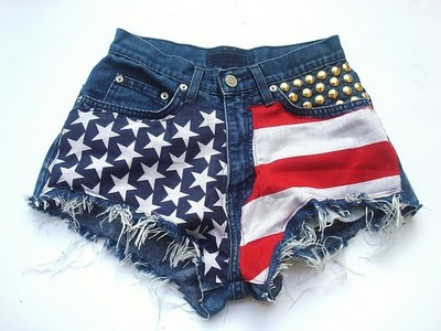 Nonszalancka: STUDDED SHORTS & AMERICAN FLAG SHORTS - BUY NO... - Polyvore