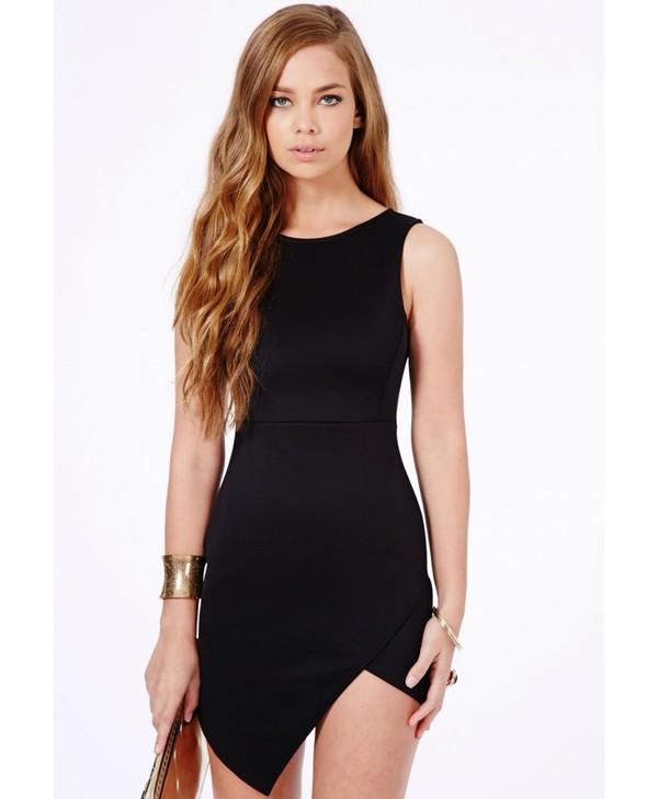 dress asymmetrical black dress