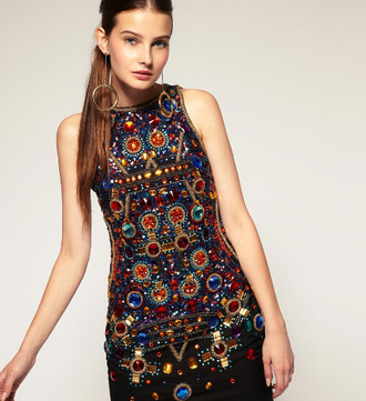 clothes top blouse dress cloth beaded