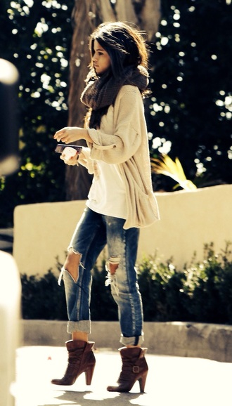 shoes selena gomez brown ankle boots