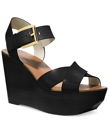 MICHAEL Michael Kors Peggy Platform Wedge Sandals - Shoes - Macy's