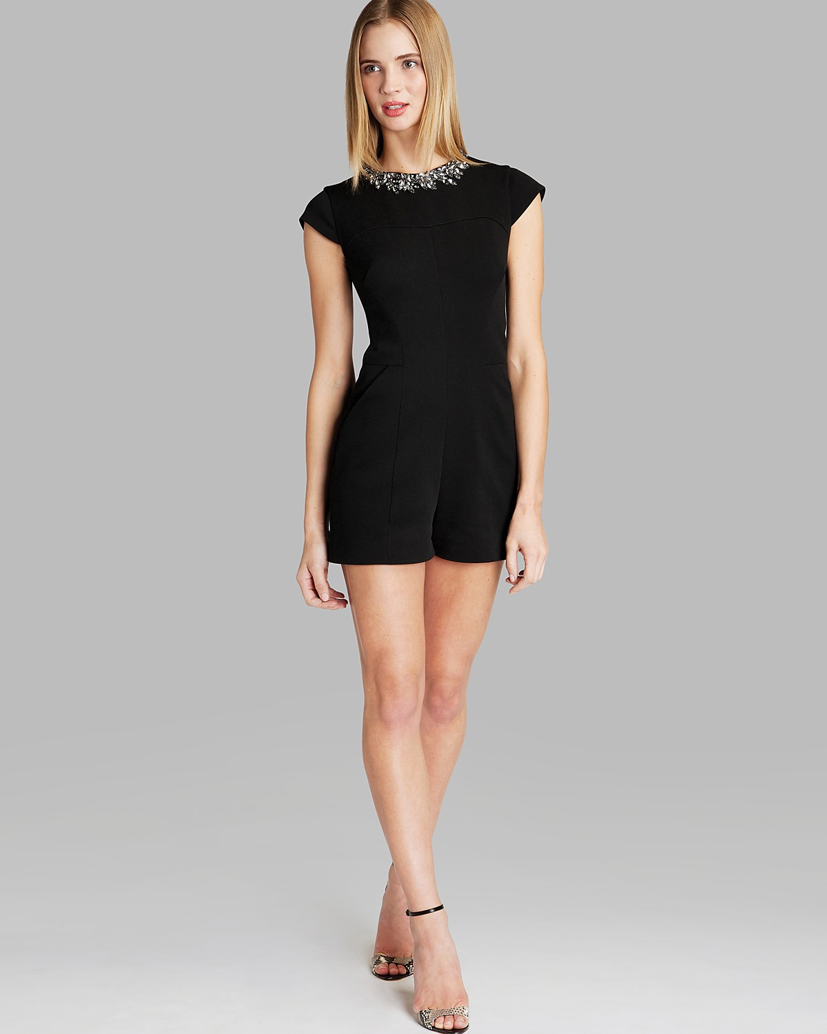 Ted Baker Romper - Evelin Embellished Neck | Bloomingdale's