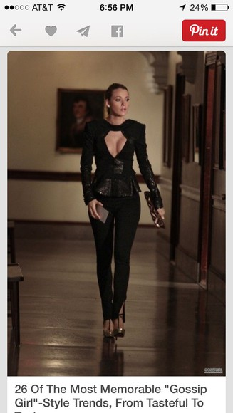 gossip girl blake lively jacket black leather