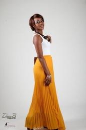 skirt,mustard skirt